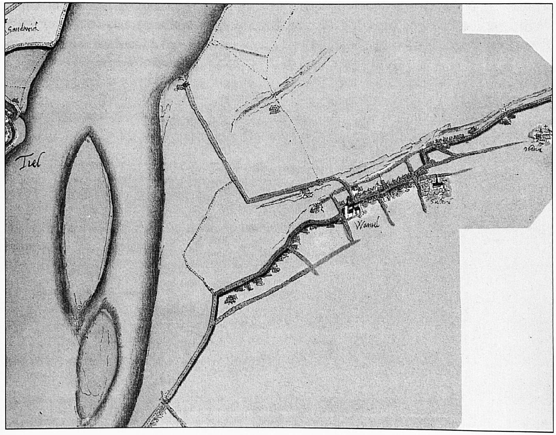 Een overzichtsfoto van de kaart van Van Deventer.