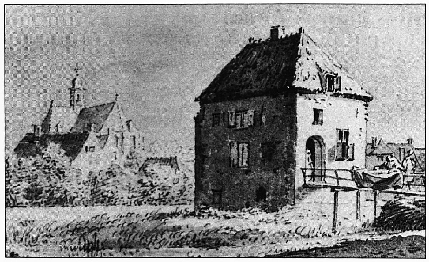 Het Spijker, getekend door C. Pronk in 1732.