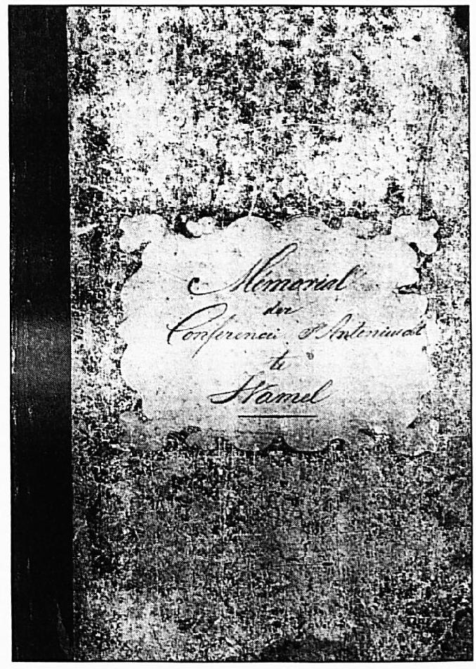 Het eerste notulenboek van de Vincentiusvereniging