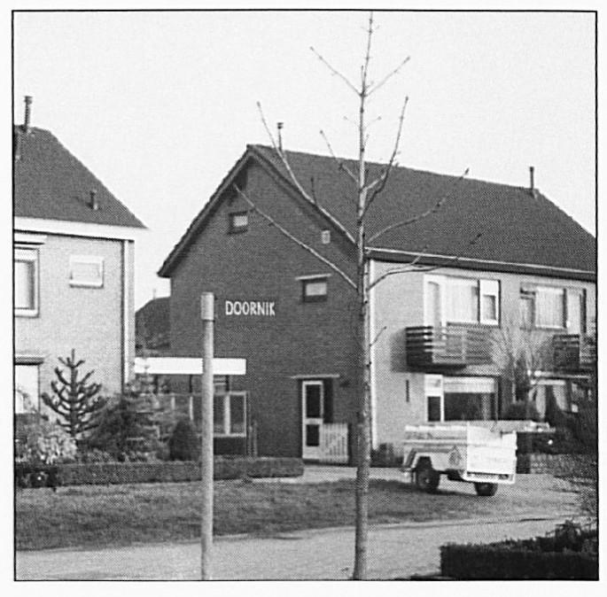 """De straat die nu -eigenlijk ten onrechte- de naam """"Doornik"""" draagt."""