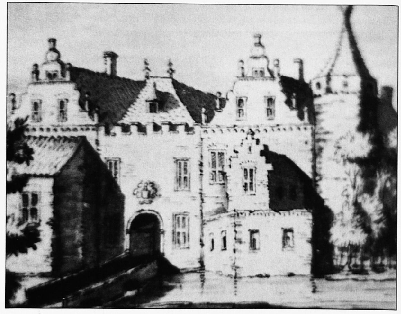 Het kasteel dat Stellingwerf in Wamel situeert. Het is een groot adellijk bezit, dat duidelijk veel meer aan een kasteel doet denken dan de huizen Lakenburg en Sterkenburg. Of dit gebouw ooit echt in Wamel stond is nog steeds een vraag.