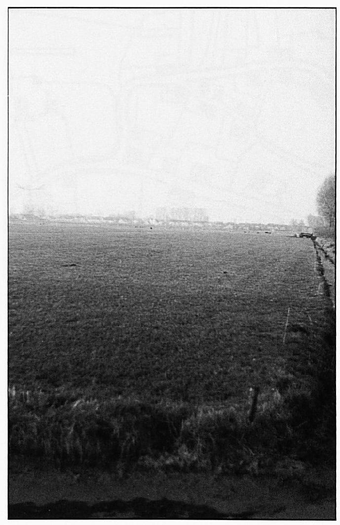 Ongeveer op deze plaats lag op de voorgrond de Wilgenkamp en daar vlak naast de Helmoes- of Helwychskamp.