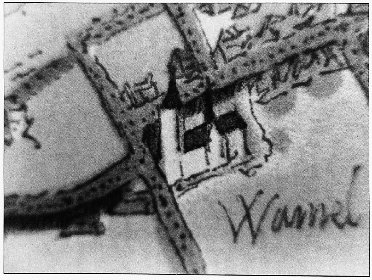 Dit is waarschijnlijk de oudste afbeelding van de Wamelse kerk. Hoewel deze afbeelding slechts een klein detail is op de kaart die Van Deventer tekende, geeft het toch de grootte en belangrijkheid van dit gebouw goed weer.
